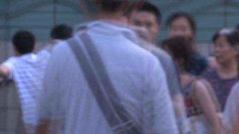 Shanghai people blur time lapse Stock Video Footage