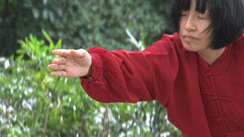 Tai Chi hands Footage