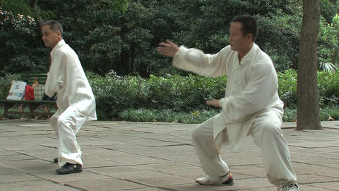 Kung fu in Zhongshan park, Shanghai Footage