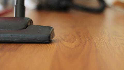 Vacuuming Laminate Floor Low Angle Footage
