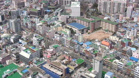 City. View from above Stock Video Footage