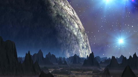 Dance of stars (UFO) Stock Video Footage
