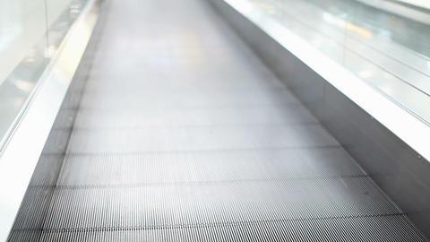 Escalator walkway Stock Video Footage