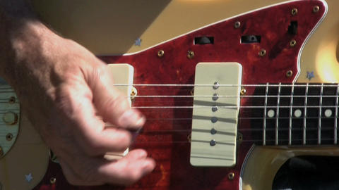 Whammy Bar On Vintage Guitar Stock Video Footage