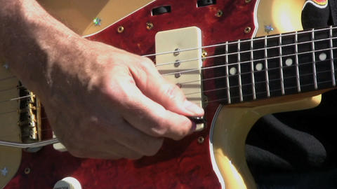 Whammy Bar On Vintage Guitar stock footage