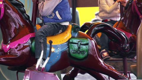 Fairground Carousel Stock Video Footage