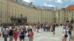 Courtyard of Prague Castle. Prague, Czech Republic Footage