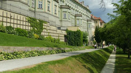 Prague, Czech Republic. Garden next to the Prague Castle Footage