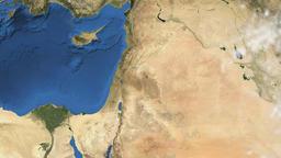 Rotating Earth - Slow passage through Israel Animation