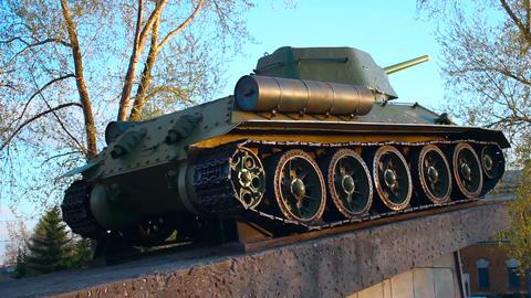 Tank T-34 memorial Footage