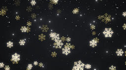 Golden falling snow Animation