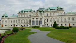 Belvedere, historic baroque palace building in Vienna, Austria Footage