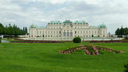 Upper Belvedere, historic baroque palace building in Vienna Footage