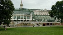 Palmenhaus - Palm House In Burggarten Garden. Vienna, Austria Footage