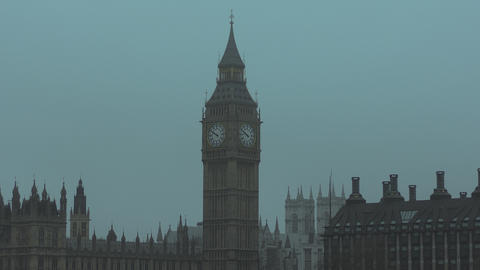 Palace of Westminster. The Tower of Big Ben Footage