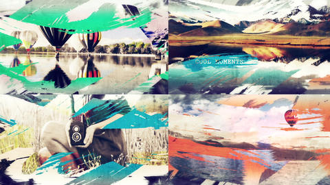 Brush Strokes Slideshow After Effects Template
