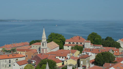 Panorama of Zadar Footage