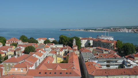Panorama of Zadar Footage