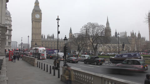 Time lapse. Historic building - the Palace of Westminster Footage
