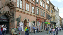 Tenements in the old town in Warsaw, Poland. UNESCO World Heritage Site Footage