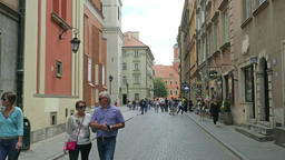 Warsaw, Poland. Street in the old Town Footage