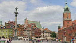 Warsaw, Poland. King Sigismund column and the Royal Castle Footage
