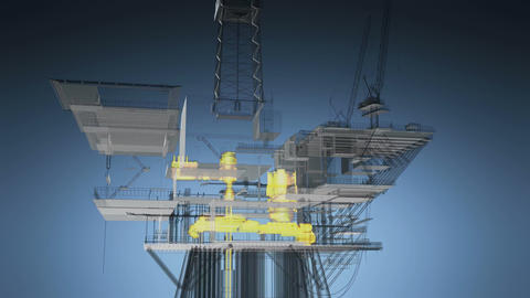 Oil and Gas central processing platform Footage