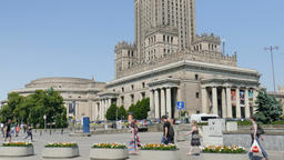 Warsaw, Poland. Downtown and Palace of Culture and Science Footage