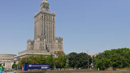 Warsaw downtown and Palace of Culture and Science Footage