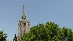 Warsaw, Poland. Palace of Culture and Science Live Action