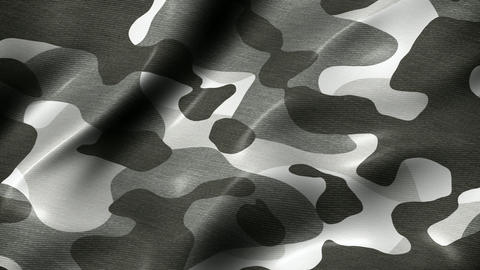 Camouflage pattern military abstract motion background seamless loop Animation