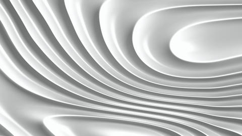 White ripples abstract motion background seamless loop Animation