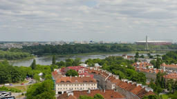 Warsaw, panorama. View on the Vistula river Footage