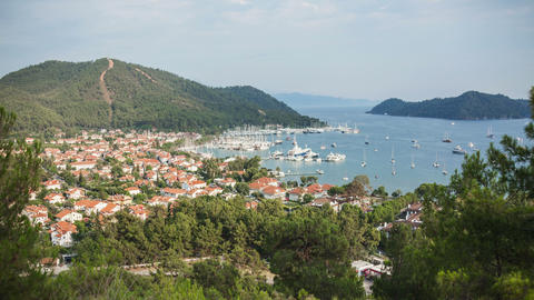 4k Gocek Bay Turkey Time Lapse Animation
