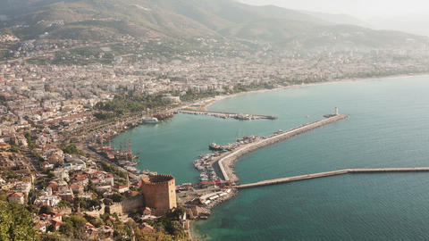 Alanya Turkey Morning Time Lapse Animation