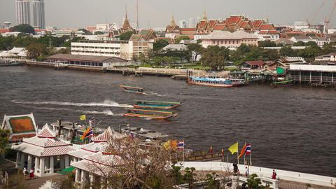 Bangkok Boats Time Lapse 4k Footage