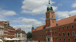 Warsaw, Poland. Market square and the Royal Castle, old town Footage