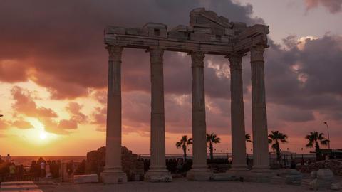 Side Apollo Temple Time Lapse 4k Footage