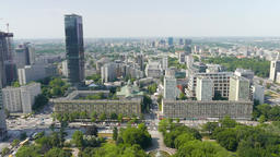 Warsaw, Poland. Aerial view Footage