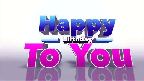 Happy Birthday To You Colourful 3D Motion Background Footage
