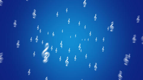 Musical Note - Treble Cleff - Blue Animation