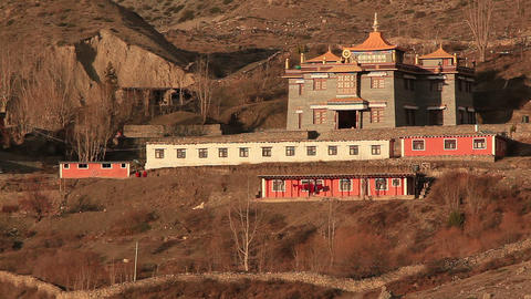 Muktinath Temple Holy Place Footage