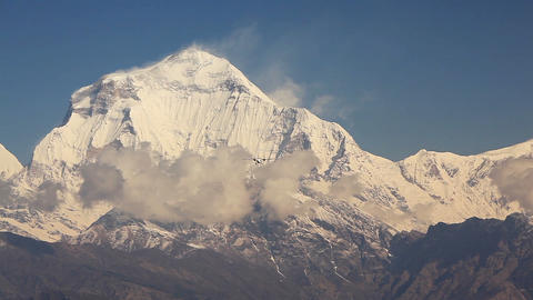 Plane Dhaulagiri Peak Himalayas Footage