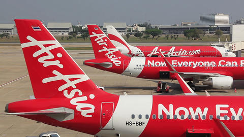 Air Asia Aircrafts Airport Footage