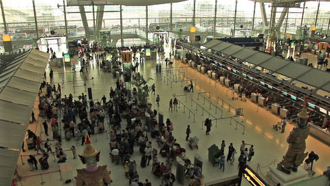 Bangkok Airport People Time Lapse Animation