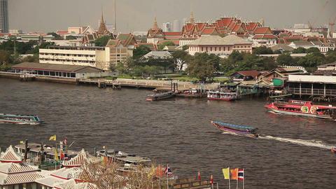 Bangkok Chao Praya Boats Footage
