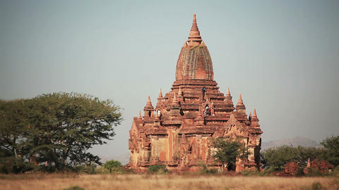 Bagan Temple People Footage
