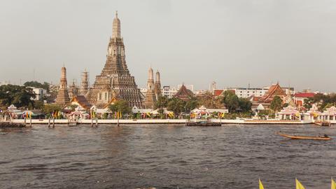 Chao Praya Boats Time Lapse Bangkok Footage