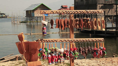 Souvenirs Inle Lake Footage
