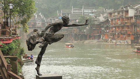 Fenghuang city, China Live Action